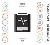 electrocardiogram symbol icon.... | Shutterstock .eps vector #1297890469