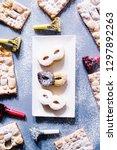 carnival masks of short pastry...   Shutterstock . vector #1297892263