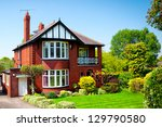 typical english house in spring ... | Shutterstock . vector #129790580