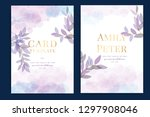 wedding invitation  floral... | Shutterstock .eps vector #1297908046