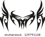 dragon tribal tattoo | Shutterstock .eps vector #129791138
