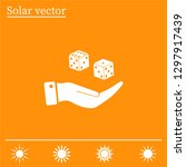 cubes for the game vector icon. | Shutterstock .eps vector #1297917439