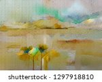 abstract oil  acrylic painting... | Shutterstock . vector #1297918810
