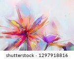 abstract colorful oil  acrylic...   Shutterstock . vector #1297918816