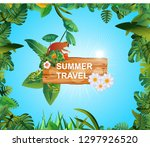 summer time holiday and travel  ... | Shutterstock .eps vector #1297926520
