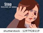 cartoon violence against woman...   Shutterstock .eps vector #1297928119