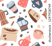 seamless pattern with different ... | Shutterstock .eps vector #1297928749