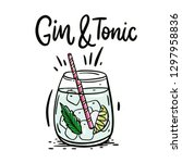 Classic Cocktail Gin And Tonic. ...