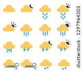 weather and season flat icon set | Shutterstock .eps vector #1297964203