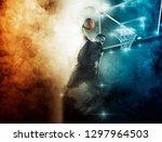 basketball player. basketball... | Shutterstock . vector #1297964503