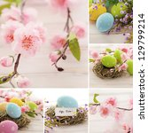 Colorful Collage With Easter...