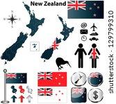 vector of new zealand set with... | Shutterstock .eps vector #129799310