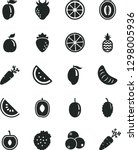 solid black vector icon set  ... | Shutterstock .eps vector #1298005936