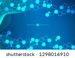 modern futuristic background of ... | Shutterstock .eps vector #1298016910
