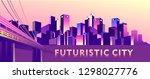 vector illustration  night city ...   Shutterstock .eps vector #1298027776