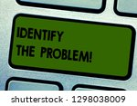 text sign showing identify the... | Shutterstock . vector #1298038009