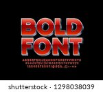 vector bold font. red and... | Shutterstock .eps vector #1298038039