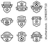 set of soccer  football emblems.... | Shutterstock .eps vector #1298039710