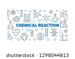 chemical reaction vector... | Shutterstock .eps vector #1298044813