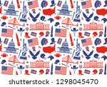 seamless background with... | Shutterstock .eps vector #1298045470