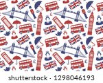 seamless background on a theme... | Shutterstock .eps vector #1298046193