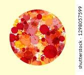 vibrant red and orange artistic ... | Shutterstock . vector #1298057599