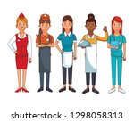 american labor day cartoon | Shutterstock .eps vector #1298058313