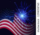 united states flag and... | Shutterstock . vector #1298058760