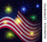 united states flag and... | Shutterstock . vector #1298058763
