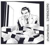 stock illustration. man near...   Shutterstock .eps vector #1298062090