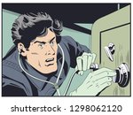 stock illustration. robber near ...   Shutterstock .eps vector #1298062120