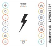 thunderstorm lightning icon.... | Shutterstock .eps vector #1298065789