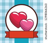 love hearts cartoon | Shutterstock .eps vector #1298066263