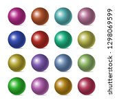 set of color realistic three... | Shutterstock .eps vector #1298069599