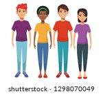 group of friends cartoon   Shutterstock .eps vector #1298070049