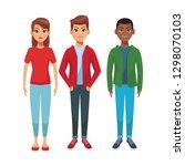 group of friends cartoon | Shutterstock .eps vector #1298070103