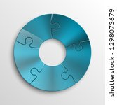 five sided 3d circle metal... | Shutterstock .eps vector #1298073679