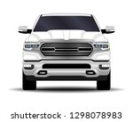 realistic car. truck  pickup.... | Shutterstock .eps vector #1298078983