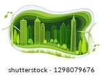 green city with building and... | Shutterstock .eps vector #1298079676
