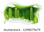 green city with building and... | Shutterstock .eps vector #1298079679