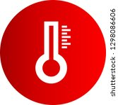vector thermometer icon  | Shutterstock .eps vector #1298086606