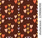 seamless pattern on a brown... | Shutterstock .eps vector #1298086900