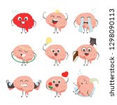 brain characters making sport... | Shutterstock .eps vector #1298090113