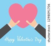 happy valentines day. two... | Shutterstock .eps vector #1298091706