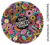 donuts hand drawn vector... | Shutterstock .eps vector #1298094496