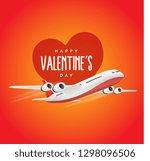 valentine day  flight  love ... | Shutterstock .eps vector #1298096506