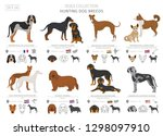 hunting dogs collection... | Shutterstock .eps vector #1298097910