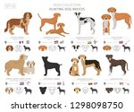 hunting dogs collection... | Shutterstock .eps vector #1298098750