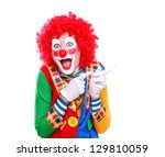 Happy Clown Pointing To The...