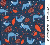 vector seamless pattern with... | Shutterstock .eps vector #1298105233